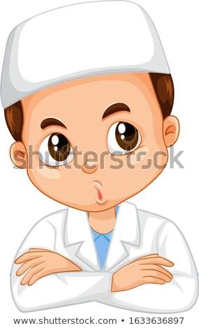 Muçulmano menino ciência vestido isolado ilustração Foto stock © bluering