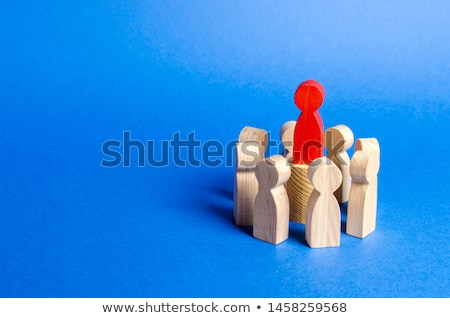 the red leader in the center of the group Stock photo © marinini