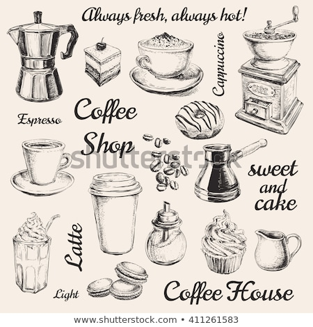 Grain de café icône dessinés à la main doodle croquis vecteur Photo stock © Terriana