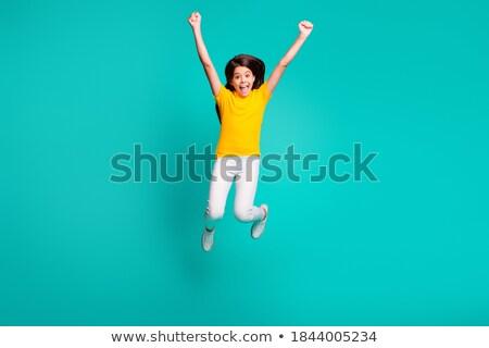 Uczennica biały shirt zestaw krótki rękaw Zdjęcia stock © toyotoyo