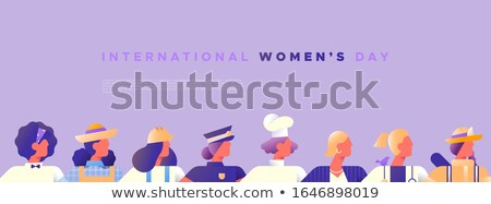Women's day template of diverse female jobs Stock photo © cienpies
