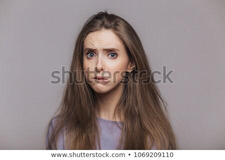 Stressante Homme baisser lèvre négatifs émotion Photo stock © vkstudio