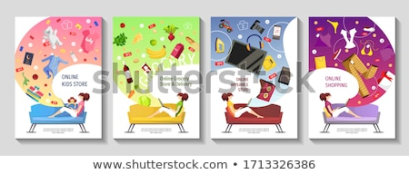 Electronics Store Advertising Posters Set Vector Stock photo © pikepicture