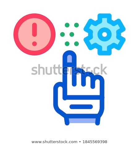error in automated settings icon vector outline illustration Stock photo © pikepicture