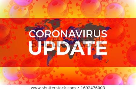 covid19 coronavirus latest news updates red background Stock photo © SArts