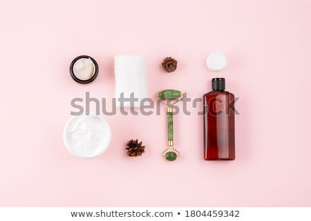 Face cream moisturizer jar on pink background, moisturizing skin Stock photo © Anneleven