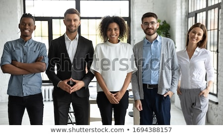 Teamwork Team of Office Workers Managers People Stock photo © robuart