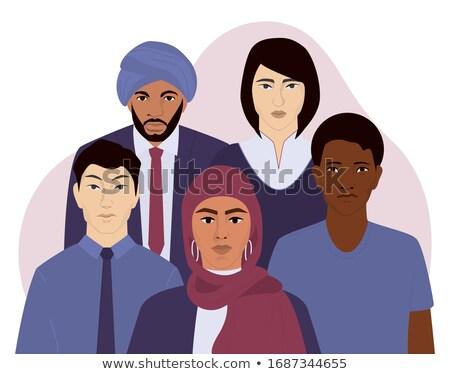 Menschen ethnischen Herkunft Vielfalt Vektor lächelnd Stock foto © robuart