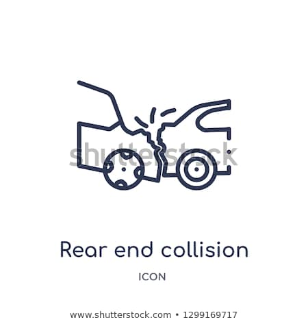 pedestrian hit by car icon vector outline illustration Stock photo © pikepicture