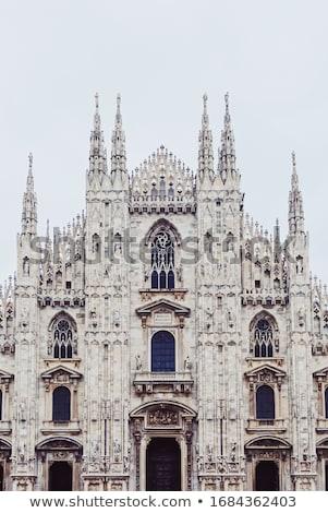 Milánó katedrális Milánó történelmi épület híres Stock fotó © Anneleven