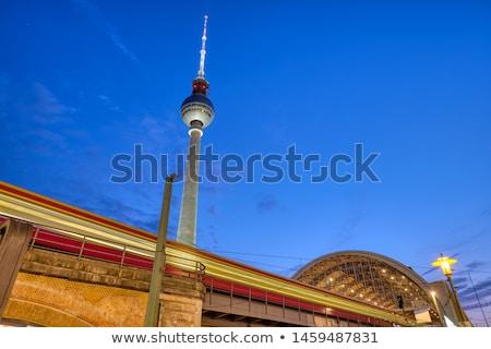 местный поезд известный телевидение башни Сток-фото © elxeneize