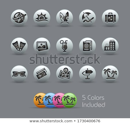 Summer Vacations Icons // Pearly Series Stock photo © Palsur