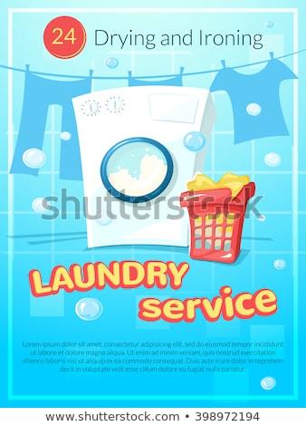Lavanderia lavaggio servizio pubblicizzare poster vettore Foto d'archivio © pikepicture