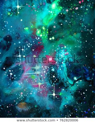 Spiraal diep paars ruimte heldere sterren Stockfoto © evgeny89