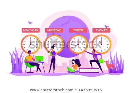 Time zones abstract concept vector illustration. Stock photo © RAStudio