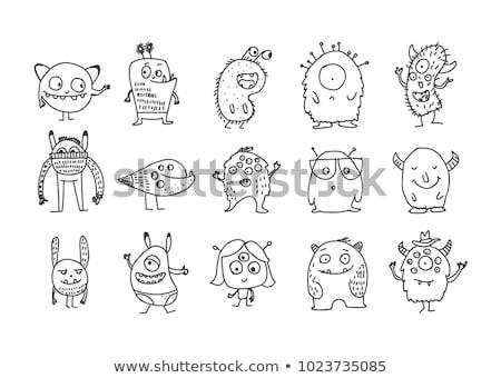 Monsters doodle Stock photo © zsooofija