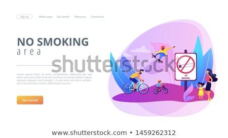 дым свободный посадка страница В ВЫХОДНЫЕ парка Сток-фото © RAStudio