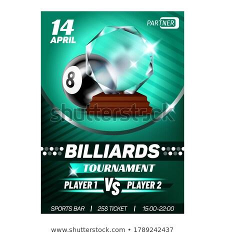 Billiard Snooker Sport Winner Reward Poster Vector Stock photo © pikepicture