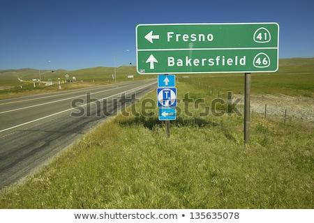 Fresno, California Highway Sign Stock photo © kbuntu