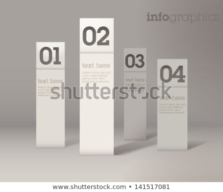 Stock photo: modern navigation items