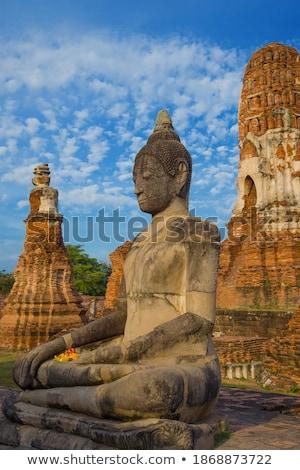 古い · 寺 · タイ · 古代 · 建物 · 市 - ストックフォト © pinkblue