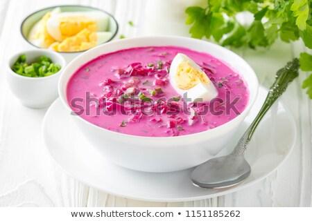 été froid soupe soupe aux légumes kéfir Photo stock © sahua