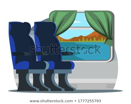 Stock photo: Pair  in subway wagon