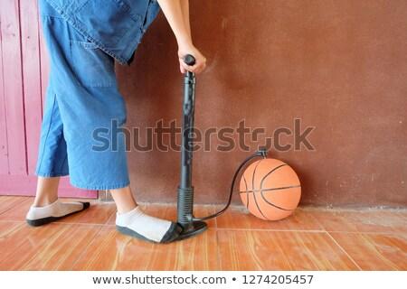 Basketbol top tekerlek büyü yalıtılmış siyah Stok fotoğraf © RAStudio
