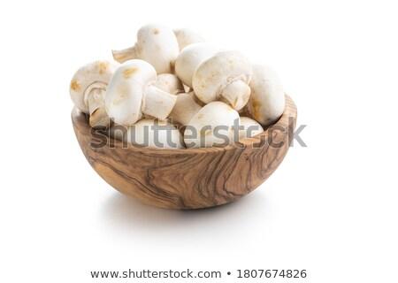 Fraîches champignon alimentaire champignons isolé solide Photo stock © iwka