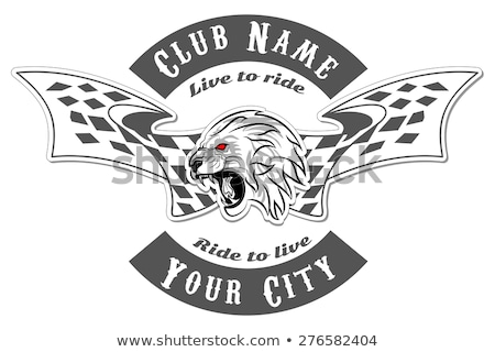 Racing Lion Mascot Graphic Vector Image  stock photo © chromaco