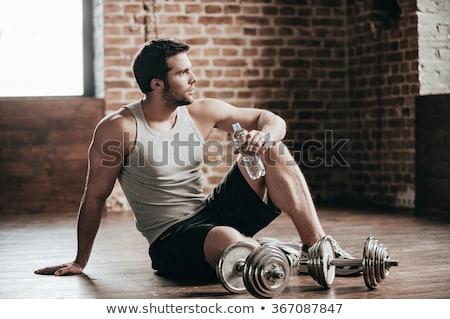 筋 · 男 · 座って · グランジ - ストックフォト © lunamarina