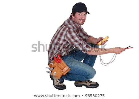 electrician holding a measurement tool Stock photo © photography33