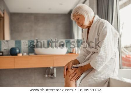Mature woman in bathrobe Stock photo © photography33