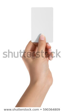 businessman hand show blank card Stock photo © PetrMalyshev