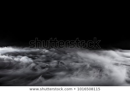 black abstraction fume shape on white stock photo © arsgera