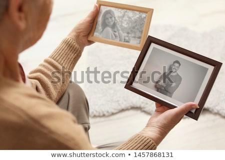 Nostálgico foto triste mulher menina modelo Foto stock © konradbak