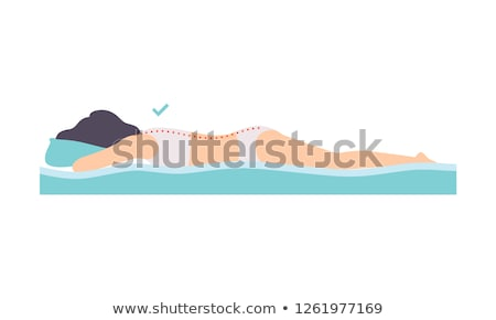Woman lying on a bed in her underwear Stock photo © photography33