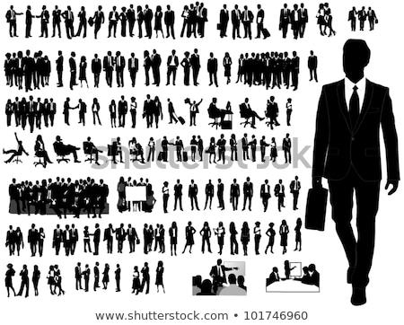 ベクトル · ビジネス · スーツケース · 孤立した · 白 · オフィス - ストックフォト © leonido