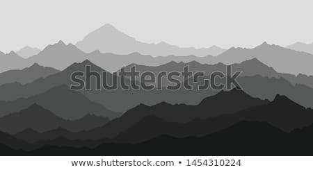 montanhas · preto · e · branco · paisagem · Nevada · montanha - foto stock © saje
