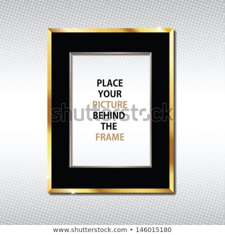 золото кадр пусто место плакат дизайна Сток-фото © oxygen64