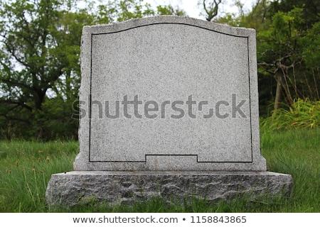 Blank Tombstone Stock photo © rmarinello