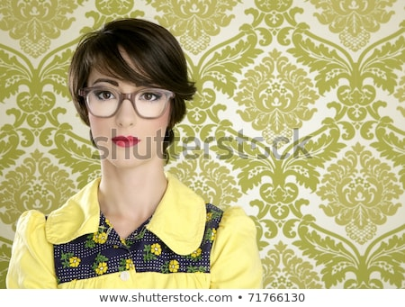 Portrait of a woman about to wallpaper a house Stock photo © photography33