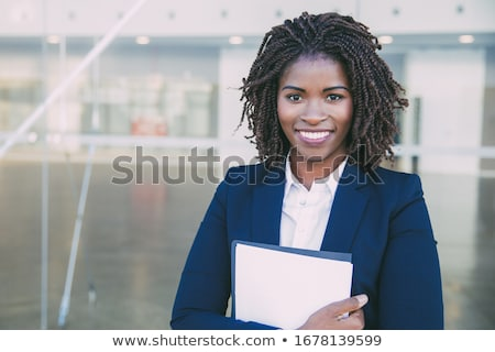 企業 女性 ポーズ カメラ 着用 眼鏡 ストックフォト © stockyimages