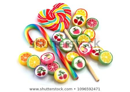 lollipop candy on white background Stock photo © ozaiachin