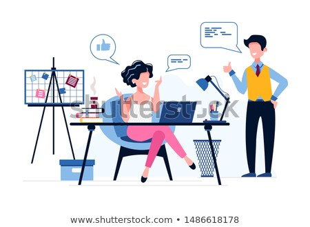 Office workers praising coffee Stock photo © photography33