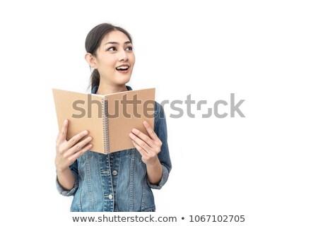 Indian meisje verrassend lezing boek jonge Stockfoto © ziprashantzi