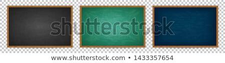 Groene schoolbord Blackboard houten frame geïsoleerd witte Stockfoto © experimental
