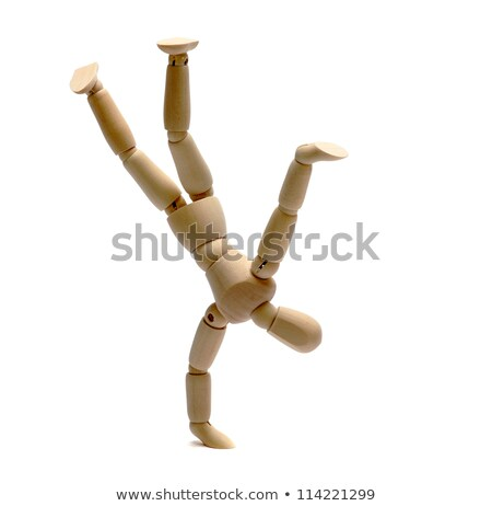 Wooden Doll Dancing Freestyle Stock fotó © pterwort