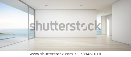 двери пустой комнате 3D оказанный интерьер дома Сток-фото © Spectral