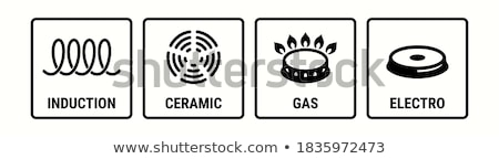 Induction symbol on electrical hob Stock photo © simpson33